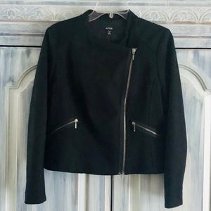 Apt 9 Black Asymmetrical Zip Moto Jacket